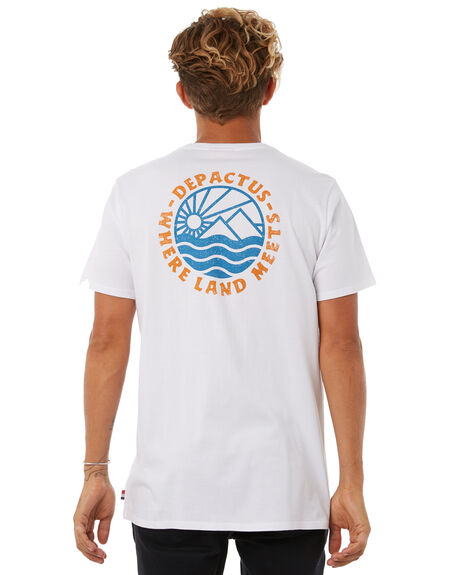 WHITE OUTLET MENS DEPACTUS TEES - D5183002WHITE