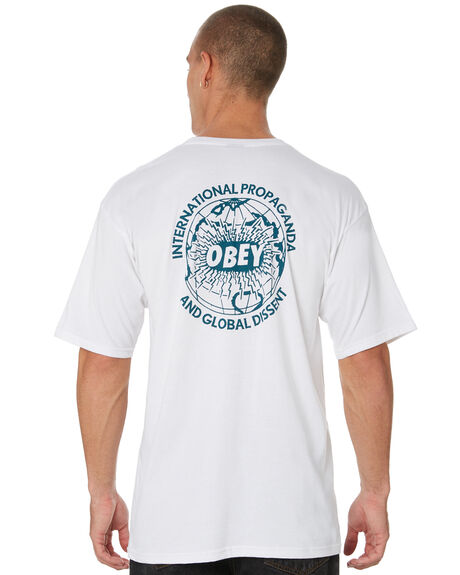 WHITE MENS CLOTHING OBEY TEES - 163081902WHT