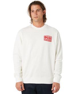 VINTAGE WHITE MENS CLOTHING DEUS EX MACHINA JUMPERS - DMP98171VNWHT