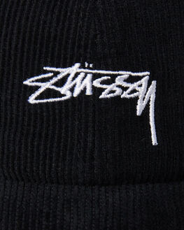 BLACK MENS ACCESSORIES STUSSY HEADWEAR - ST796000BLK