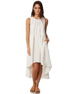 WHITE LINEN WOMENS CLOTHING WILDE WILLOW DRESSES - K352WHT