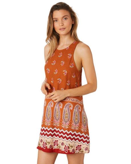 RUST WOMENS CLOTHING TIGERLILY DRESSES - T395449RUS