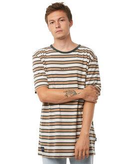 TAN STRIPE MENS CLOTHING RPM TEES - 8AMT01CTSTRP
