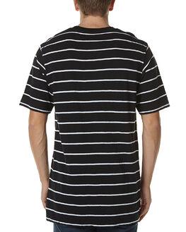 JET BLACK MENS CLOTHING ZOO YORK TEES - ZY-MTC6012JBLK