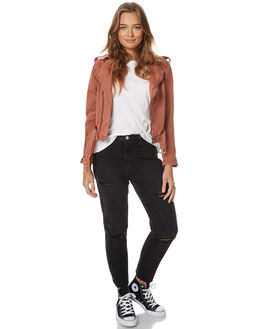 RUST WOMENS CLOTHING THRILLS JACKETS - WTDP-207HRST