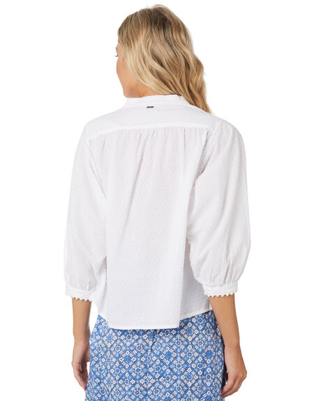 BRIGHT WHITE OUTLET WOMENS RUSTY FASHION TOPS - SCL0329BTW