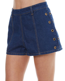 DENIM BLUE WOMENS CLOTHING SOMEDAYS LOVIN SHORTS - SL1703932DNB