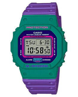 PURPLE  AQUA MENS ACCESSORIES G SHOCK WATCHES - DW5600TB-6DPURAQ