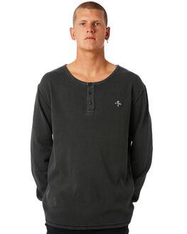 MERCH BLACK MENS CLOTHING THRILLS TEES - TW8-107MBMBLK
