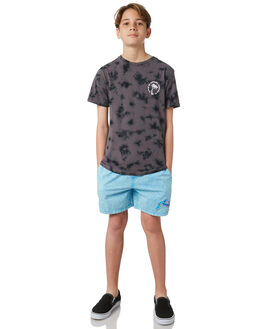 BLACK KIDS BOYS RIP CURL TEES - KTEXQ30090