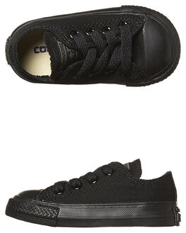 BLACK MONO KIDS TODDLER BOYS CONVERSE FOOTWEAR - 714786BLKMO