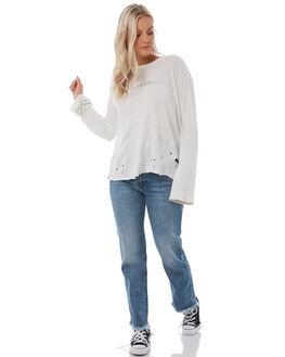 SILVER BLEAC WOMENS CLOTHING RVCA TEES - R283093SILV