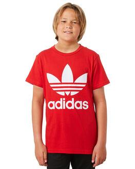 SCARLET WHITE KIDS BOYS ADIDAS TOPS - ED7795SCRWH