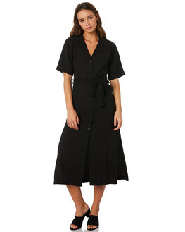 WASHED BLACK OUTLET WOMENS NUDE LUCY DRESSES - NU23573BLK