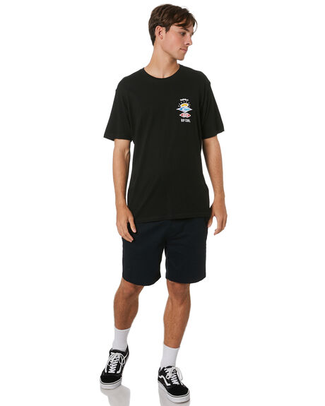 BLACK MENS CLOTHING RIP CURL TEES - CTESV90090