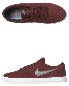 BURGUNDY CRUSH MENS FOOTWEAR NIKE SKATE SHOES - 843895-602