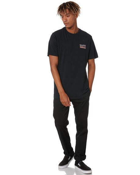 BLACK MENS CLOTHING VOLCOM TEES - A50320H2BLK