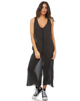 VINTAGE BLACK WOMENS CLOTHING THRILLS PLAYSUITS + OVERALLS - WTH7-907VBVBLK