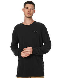 ROOTS BLACK MENS CLOTHING STUSSY TEES - ST071001RBLK