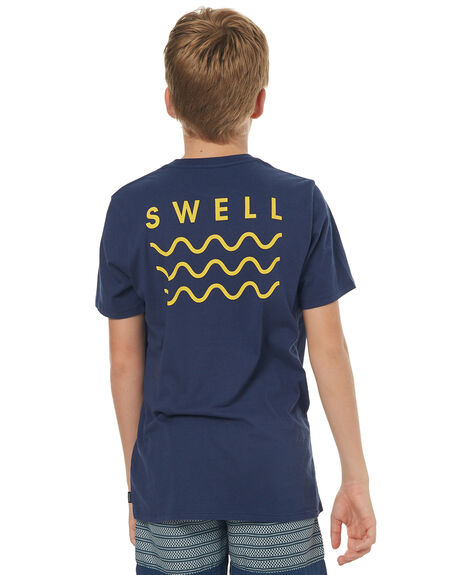 NAVY YELLOW KIDS BOYS SWELL TEES - S3164001NVY