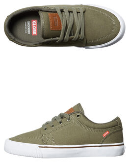 BURNT OLIVE KIDS BOYS GLOBE SKATE SHOES - GBKGS-19966