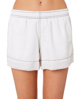 WHITE OUTLET WOMENS NUDE LUCY SHORTS - NU23475WHT