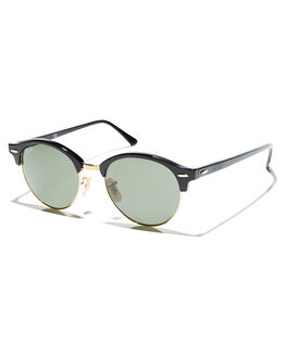 BLACK GREEN UNISEX ADULTS RAY-BAN SUNGLASSES - 0RB424651901