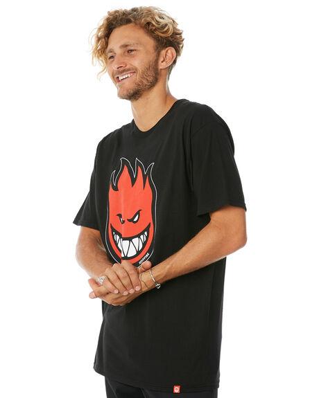 BLACK RED MENS CLOTHING SPITFIRE TEES - BHFILLTEEBLK