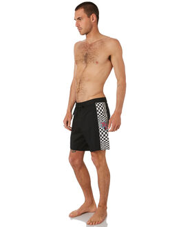BLACK MENS CLOTHING TOWN AND COUNTRY BOARDSHORTS - TBO410ABLK