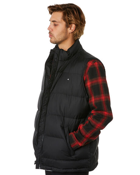 BLACK MENS CLOTHING HUFFER JACKETS - MPVE02S1801BLK