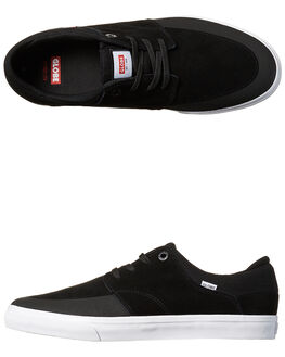 BLACK WHITE MENS FOOTWEAR GLOBE SKATE SHOES - GBCHASE-10046
