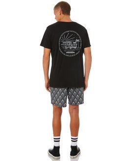 BLACK MENS CLOTHING KATIN TEES - TSBRO01BLK