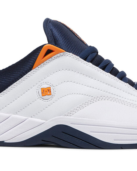 WHITE/NAVY MENS FOOTWEAR DC SHOES SNEAKERS - ADYS100539-WNY