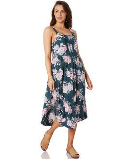 PETROL FLORAL WOMENS CLOTHING O'NEILL DRESSES - 5721601PTF