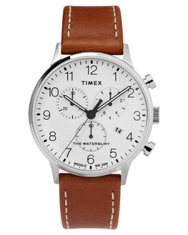WHITE TAN MENS ACCESSORIES TIMEX WATCHES - TW2T28000WHITA