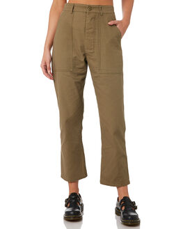 ARMY GREEN WOMENS CLOTHING THRILLS PANTS - WTW9-402FARMY