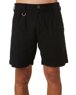 BLACK MENS CLOTHING THRILLS SHORTS - TA20-302BBLK