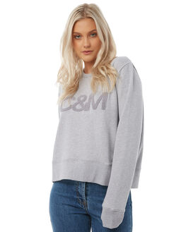 BLUE GREY MARLE WOMENS CLOTHING CAMILLA AND MARC JUMPERS - RCMT6729BLUG