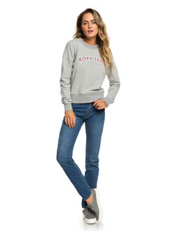 HERITAGE HEATHER WOMENS CLOTHING ROXY JUMPERS - ERJFT03920-SGRH