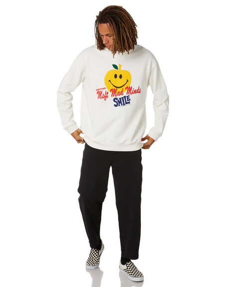 WASHED WHITE MENS CLOTHING MISFIT HOODIES + SWEATS - MT011203WSWHT
