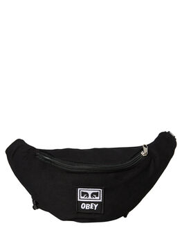 BLACK TWILL MENS ACCESSORIES OBEY BAGS + BACKPACKS - 100010098BLK