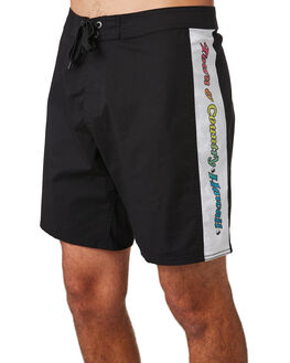 BLACK MENS CLOTHING TOWN AND COUNTRY BOARDSHORTS - TBO509ABLK