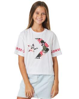 WHITE KIDS GIRLS CONVERSE TOPS - R468472001