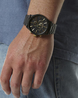 MATTE BLACK GOLD MENS ACCESSORIES NIXON WATCHES - A38610411041