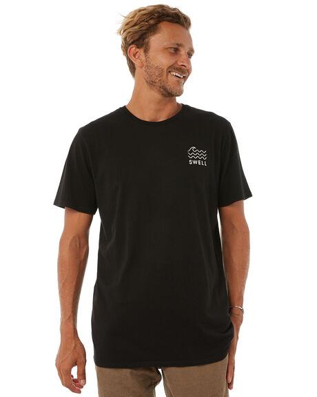 BLACK MENS CLOTHING SWELL TEES - S5183013BLACK