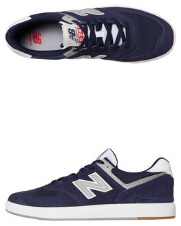 BLACK MENS FOOTWEAR NEW BALANCE SKATE SHOES - AM574CPBBLACK