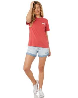 VINTAGE ROSE WOMENS CLOTHING RUSTY TEES - TTL0973-VRS