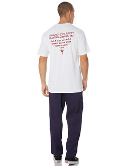 WHITE MENS CLOTHING PASS PORT TEES - PPSIMPLYWHT