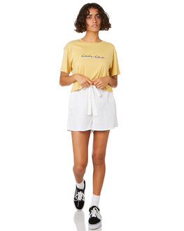 MUSTARD WOMENS CLOTHING COOLS CLUB TEES - 115-CW1MUS