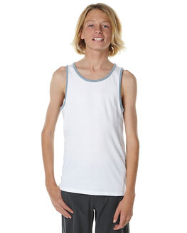 WHITE KIDS BOYS BILLABONG SINGLETS - 8561506WHI